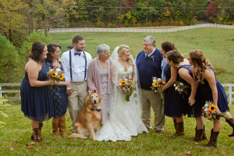 This is my family. All my sisters and our one brother. And Jasper, the golden retriever. Because when parents of 7 kids become empty nesters, they need a dog who's treated like a child.